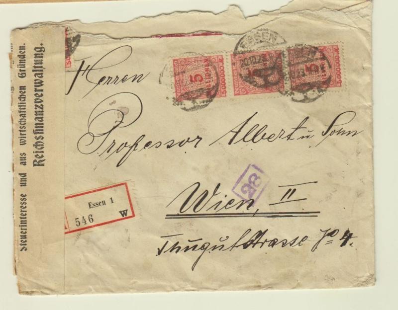 Devisenkontrolle im Deutschen Reich nach Ende des 1. Weltkrieges Essen110