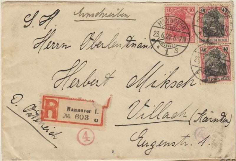 Devisenkontrolle im Deutschen Reich nach Ende des 1. Weltkrieges Hannov10