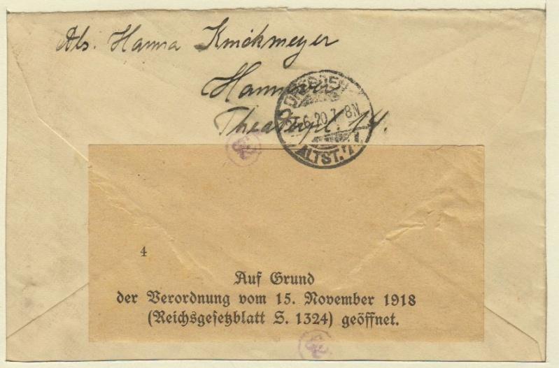 Devisenkontrolle im Deutschen Reich nach Ende des 1. Weltkrieges Hannov11