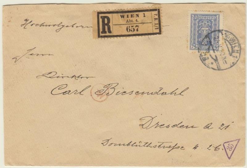 nach - Devisenkontrolle im Deutschen Reich nach Ende des 1. Weltkrieges Wien_210