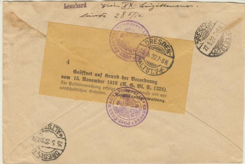 Devisenkontrolle im Deutschen Reich nach Ende des 1. Weltkrieges Wien_211