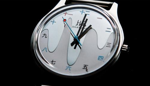 Une montre auto de qualité avec caractères chinois Shangh11