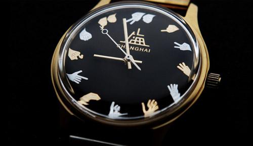Une montre auto de qualité avec caractères chinois Shangh12