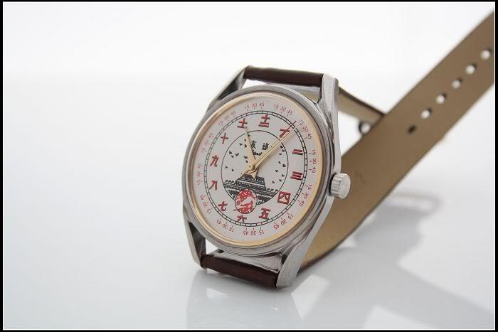 Une montre auto de qualité avec caractères chinois Shangh18