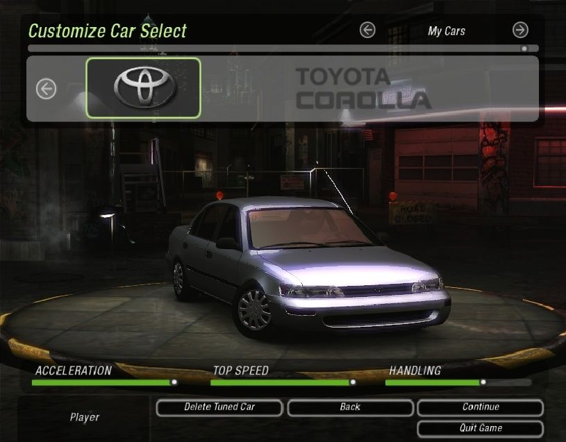 Need For Speed Underground 2 Corolla mod 2015-110