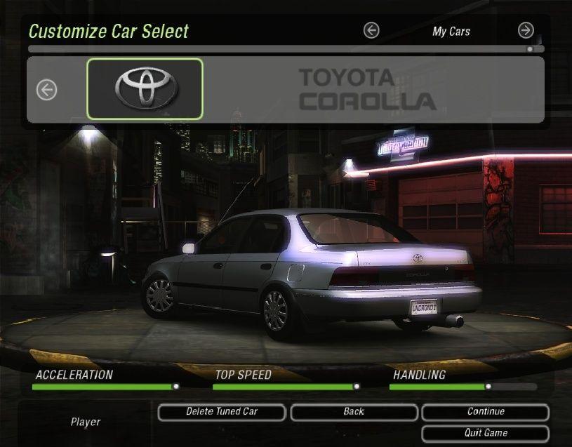 Need For Speed Underground 2 Corolla mod Coroll10