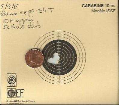 Mes 1er carton avec ma première carabine .... 10m-fr11