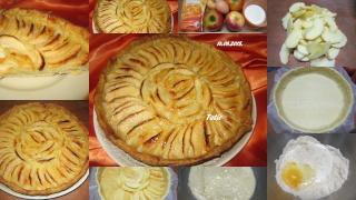Tarte aux Pommes à la crème amandine. Tarte_10
