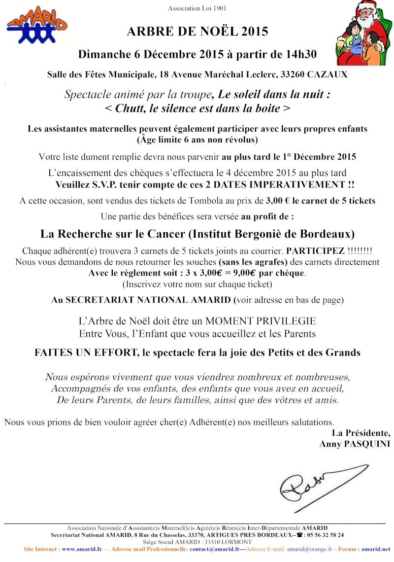 Adhérentes Noel AMARID CAZAUX Courri10