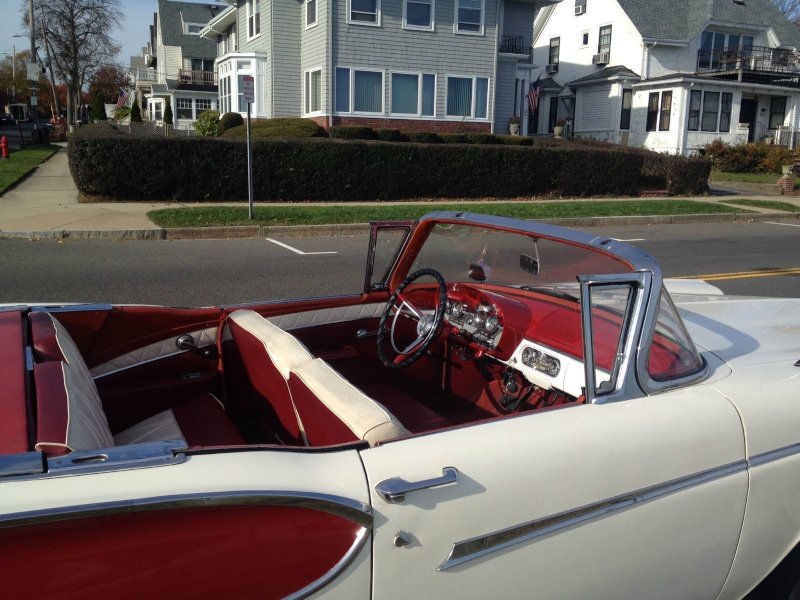 1957 Ford Fairlane Skyliner with Edsel Pacer 1958 front 1112