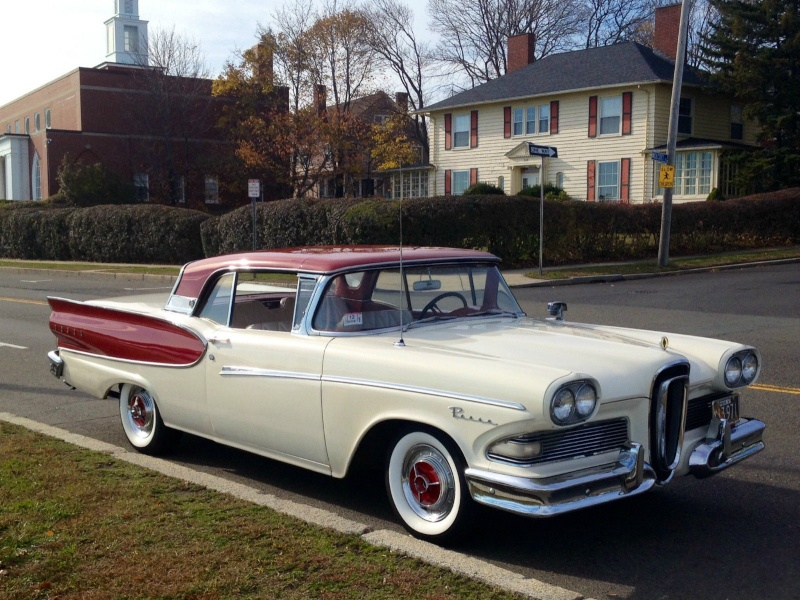 1957 Ford Fairlane Skyliner with Edsel Pacer 1958 front 131