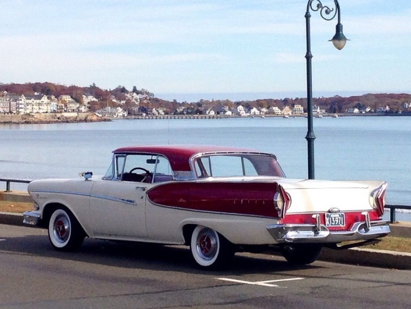 1957 Ford Fairlane Skyliner with Edsel Pacer 1958 front 426
