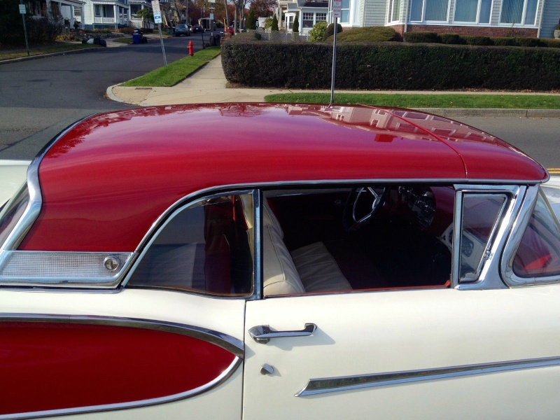 1957 Ford Fairlane Skyliner with Edsel Pacer 1958 front 526