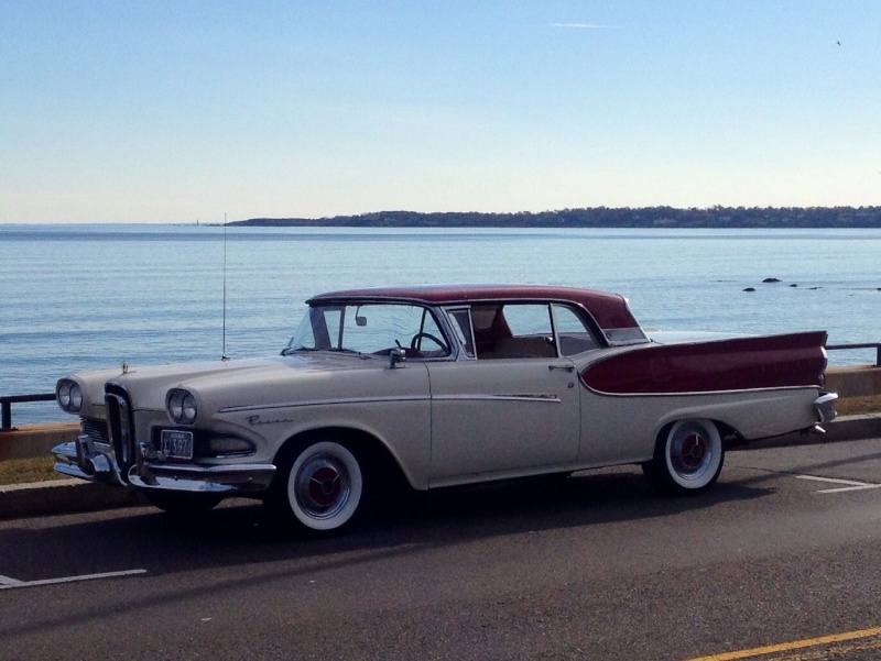 1957 Ford Fairlane Skyliner with Edsel Pacer 1958 front 623