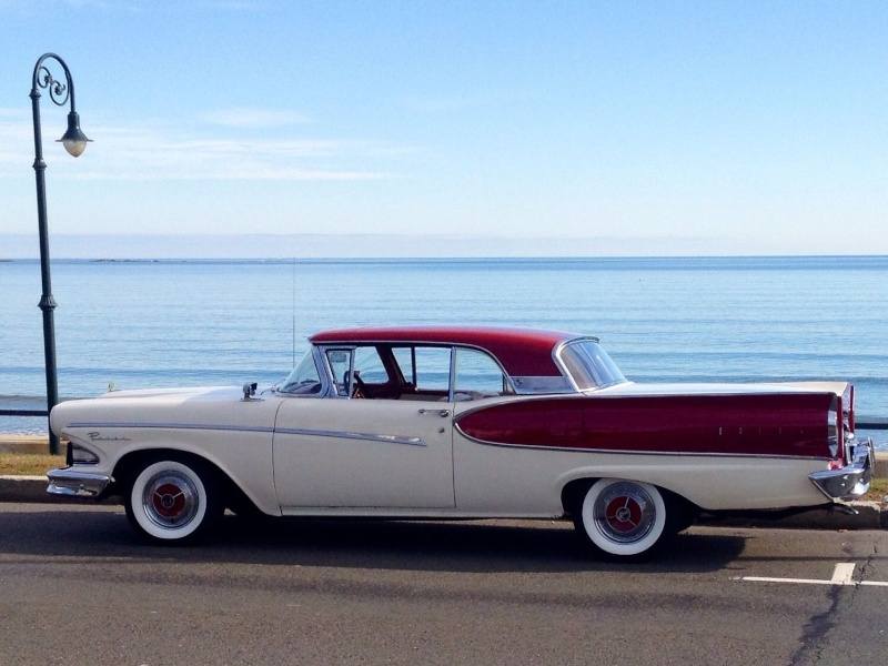 1957 Ford Fairlane Skyliner with Edsel Pacer 1958 front 717
