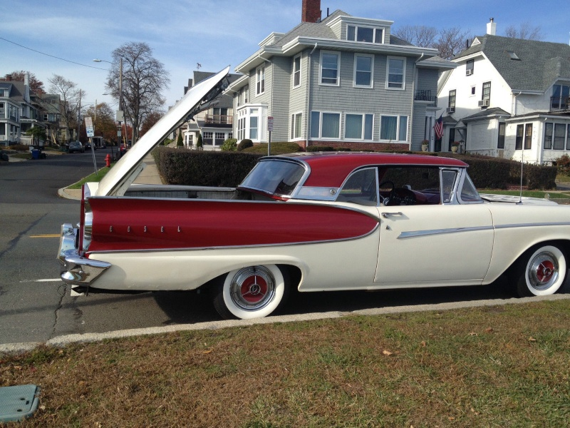 1957 Ford Fairlane Skyliner with Edsel Pacer 1958 front 812