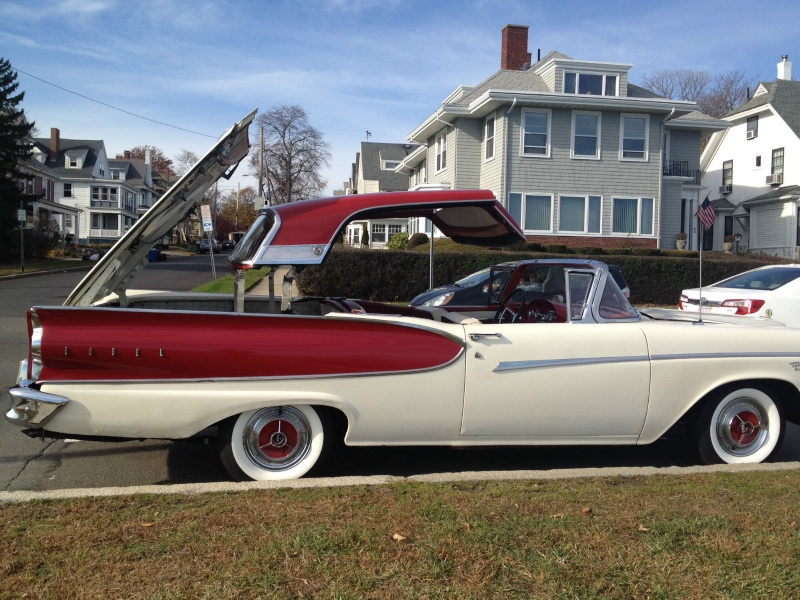1957 Ford Fairlane Skyliner with Edsel Pacer 1958 front 912