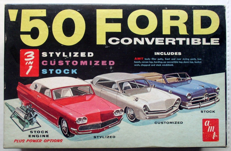 1950 Ford Convertible - customizing kit - trophie series - amt Amt50f10