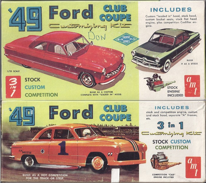 1949 Ford coupe - Customizing kit - Trophie series - 1/25 scale - Amt -  Amt_4910