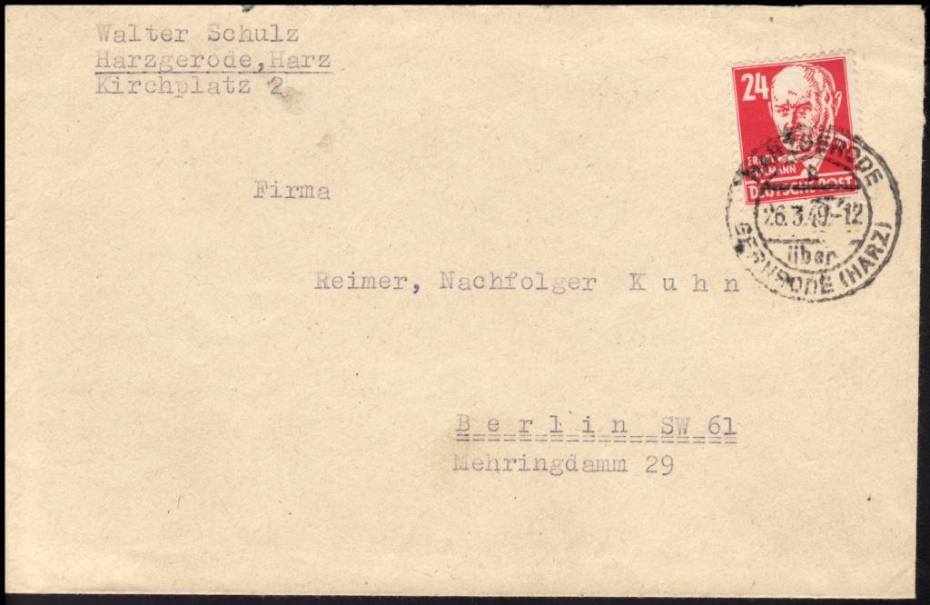 1945 - Deutschland  -  Landpoststempel (Poststellenstempel) 220a10
