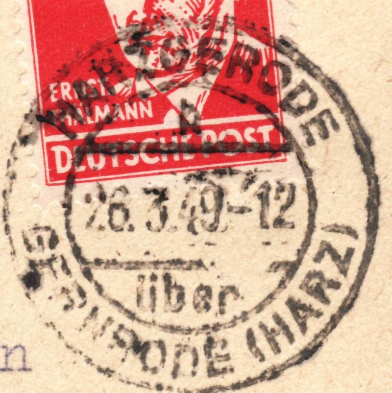1945 - Deutschland  -  Landpoststempel (Poststellenstempel) 220b10