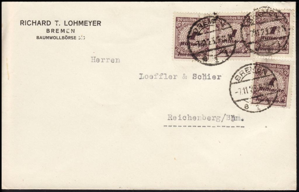 Deutsches Reich Okt. 1918 bis Nov. 1923 325wa110