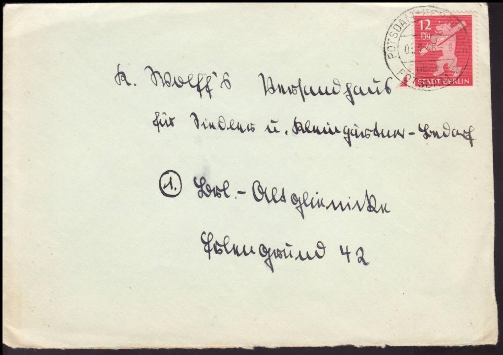 1945 - Deutschland  -  Landpoststempel (Poststellenstempel) 5a10