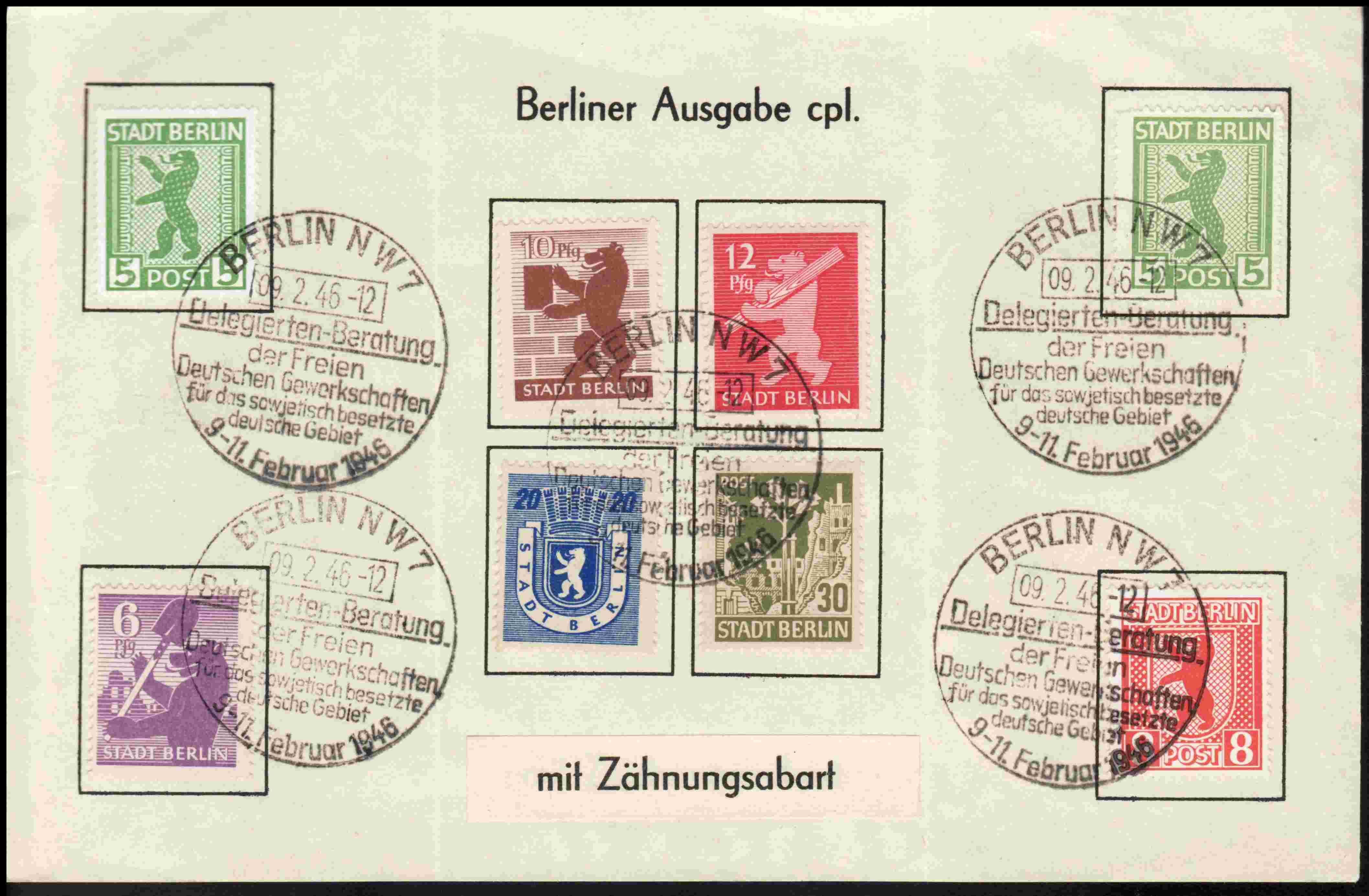 Berlin - Brandenburg (OPD Potsdam) -Sowjetische Besatzungszone- Bb1a10