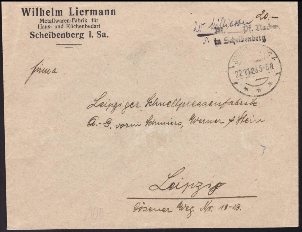 Deutsches Reich Okt. 1918 bis Nov. 1923 Dr192310