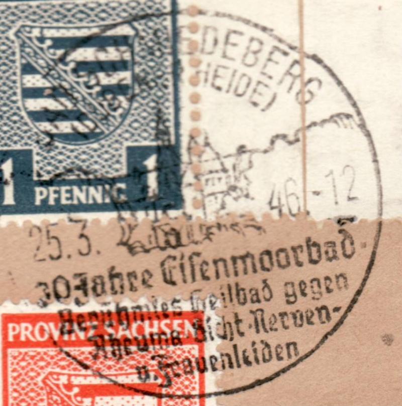 1945 - Ortswerbestempel - Deutschland nach 1945 (Handstempel) Owr12b10