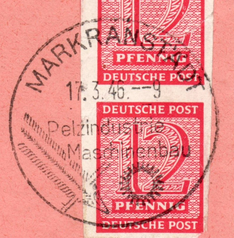 1945 - Ortswerbestempel - Deutschland nach 1945 (Handstempel) Ows1010