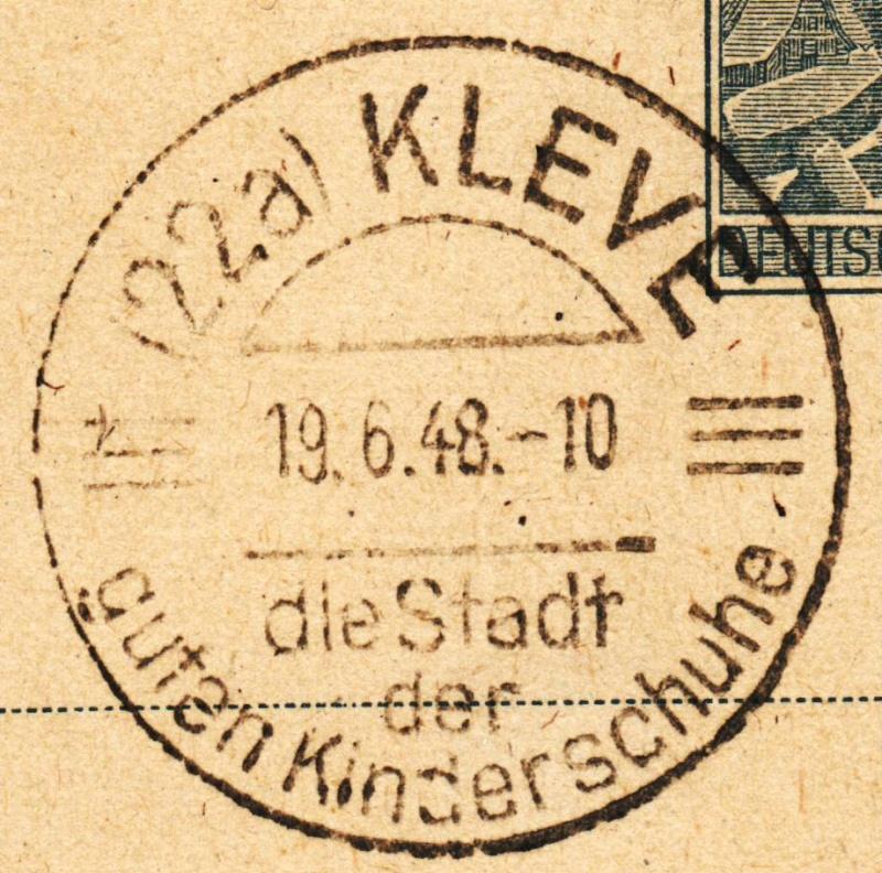 1945 - Ortswerbestempel - Deutschland nach 1945 (Handstempel) Ows110
