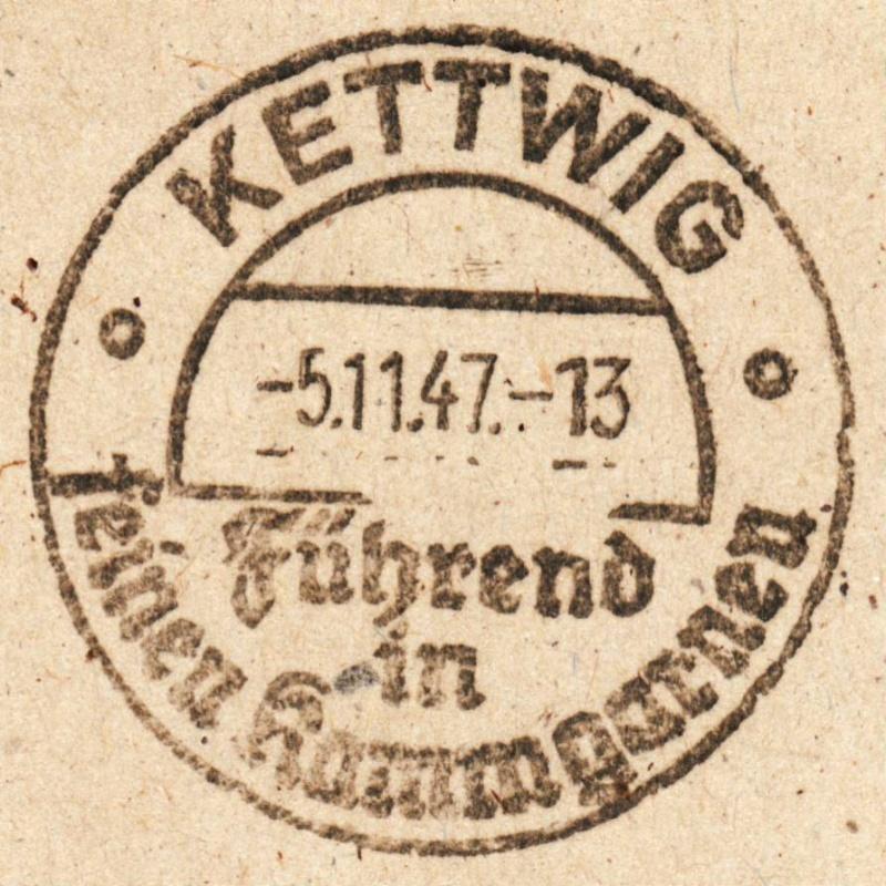 1945 - Ortswerbestempel - Deutschland nach 1945 (Handstempel) Ows211