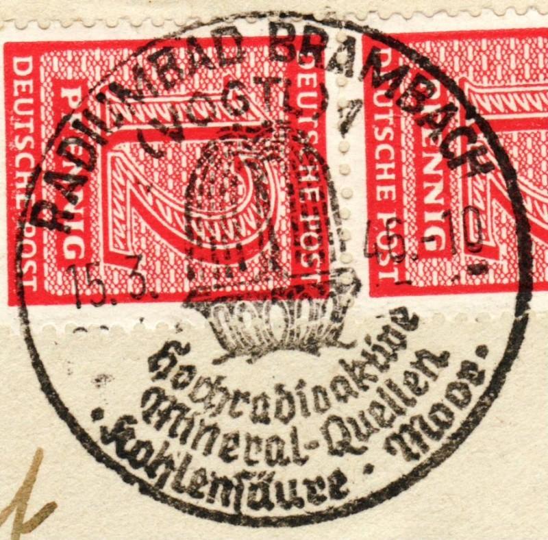 1945 - Ortswerbestempel - Deutschland nach 1945 (Handstempel) Ows910