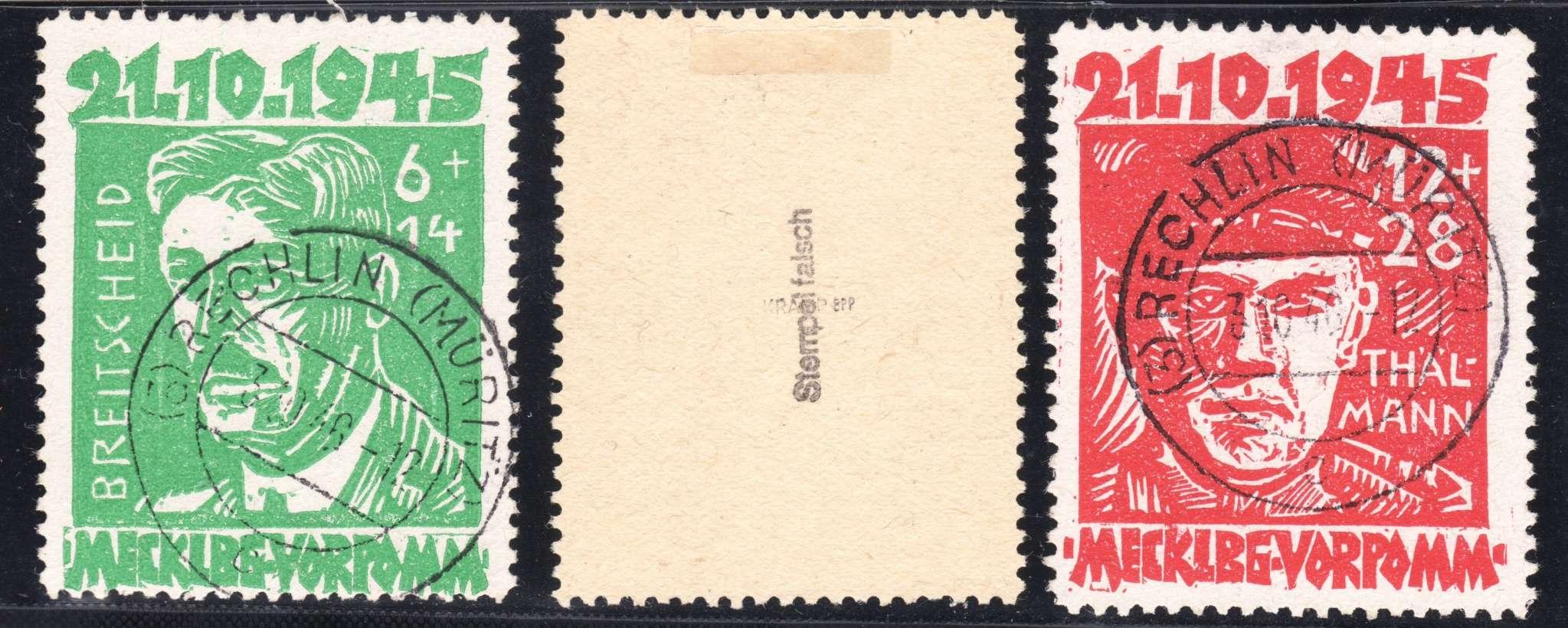 Stempelfälschungen der SBZ Z3a10