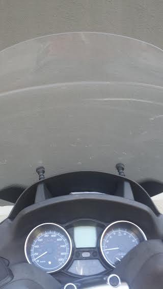 Modification bulle suite changement selle plus haute de 5 cm Scoot210