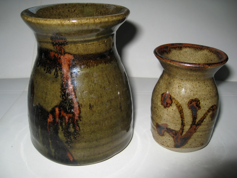 Two studio vases with M mark - maybe Richard Champion, Monkleigh Pottery Img_2112