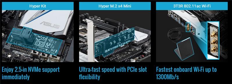 Cartes mères ASUS Z170 : DDR3/4, mini-ITX, USB 3.1, Type-C, M.2, overclocking... entre autres Medium13