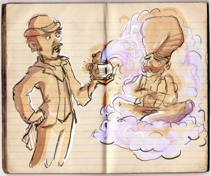 Croquis de Maggy Sketch12