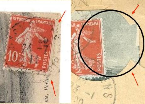carte postale ayant voyagée sans adresse Envtro10