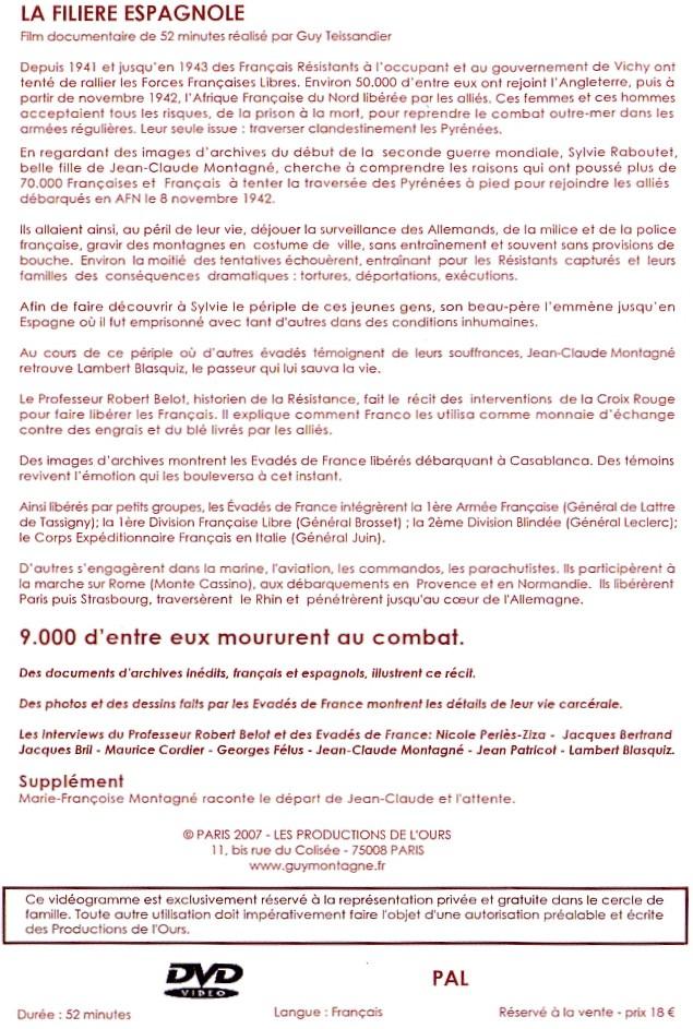 TESSANDIER Guy - La filière espagnole (DVD) Dvd_210