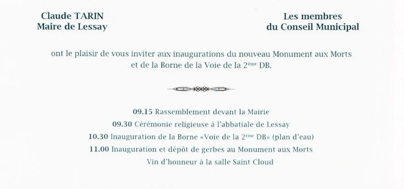 Borne du serment de Koufra: LESSAY (50) Lessay11