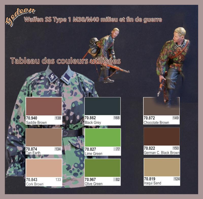 Tutorial peinture camouflage 3 tons soldats Allemands (Waffen SS) Couleu10