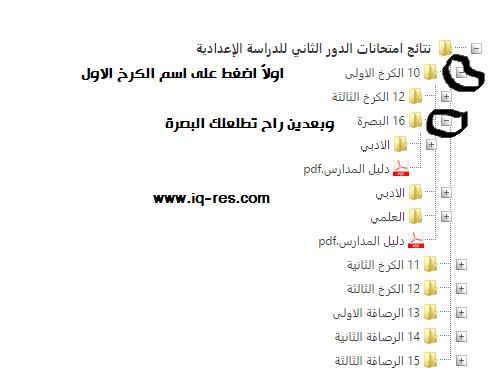 نتائج السادس الاعدادي علمي وادبي الدور الثاني 2015 محافظة البصرة Untitl10
