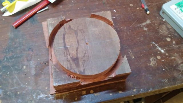 Fabrication d'une poulie en bois 20151023