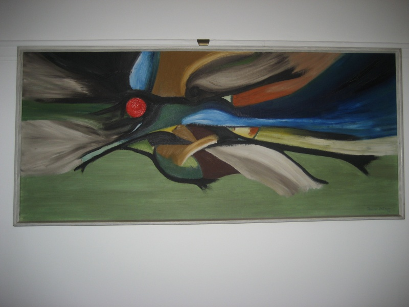 Original 60's Abstract Painting Signed Fenwick Pattison Img_1210