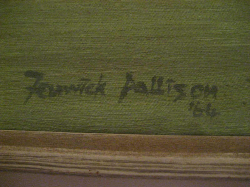 Original 60's Abstract Painting Signed Fenwick Pattison Img_1211