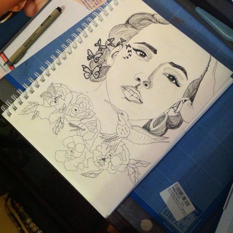 Mes créations Watcha-art Illustration  Croqui10