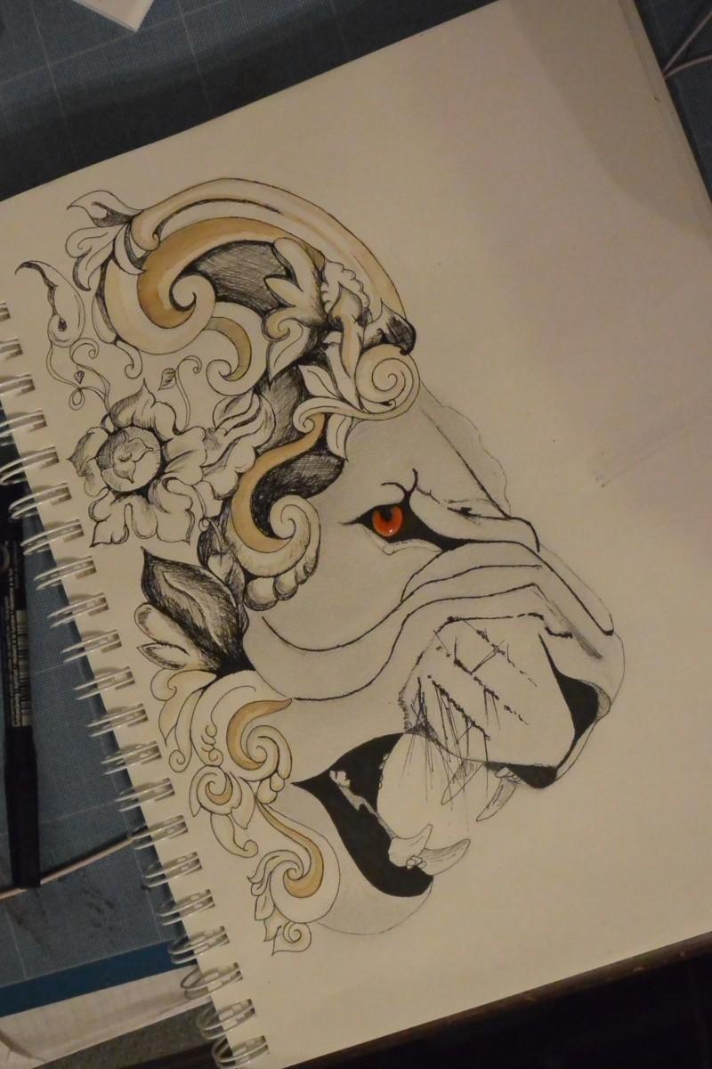 Mes créations Watcha-art Illustration  Lion_f10