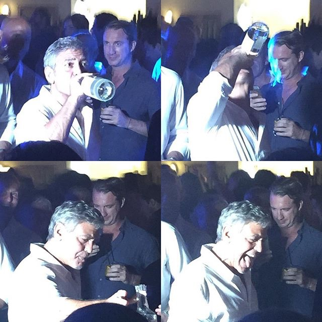 George & Amal Clooney, the Gerbers at the Ibiza launch of their Casamigos tequila August 23, 2015 - Page 2 Image11